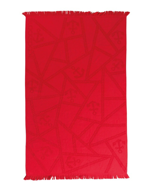 Plaj Havlusu Renkli - 8412 - Kırmızı