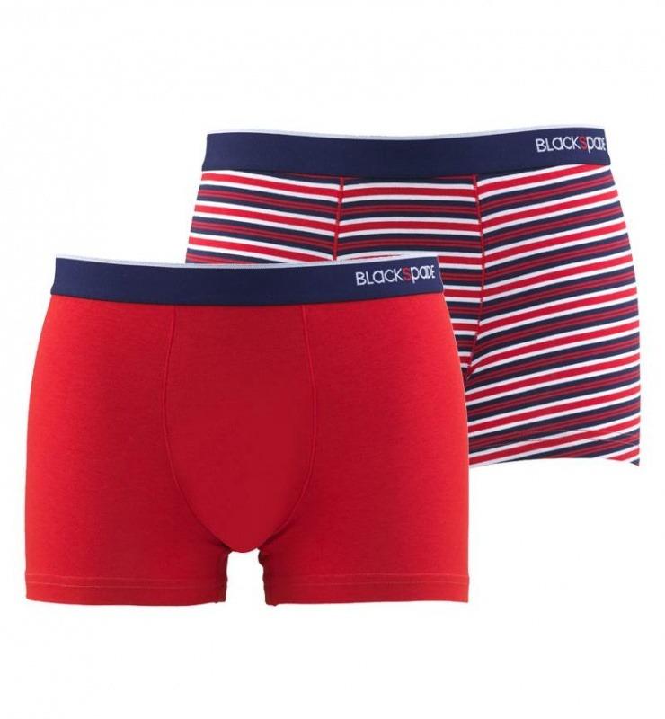 Erkek Boxer 2'li Paket Stripes 9551 - Kırmızı