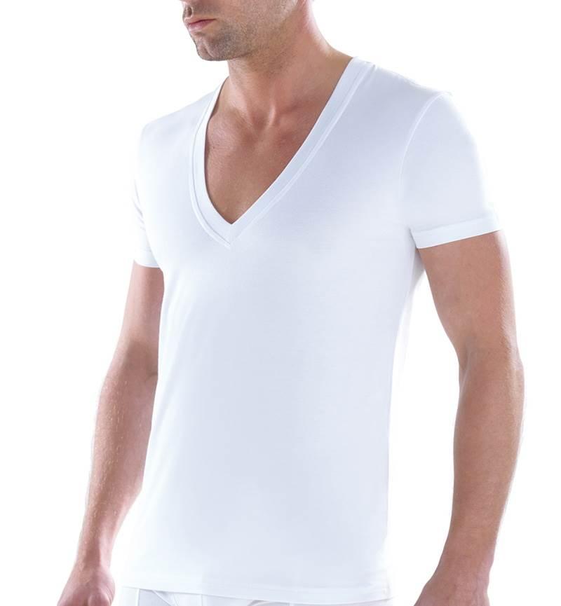 Erkek Tshirt Derin V Yaka Tender Cotton 9212 - Beyaz