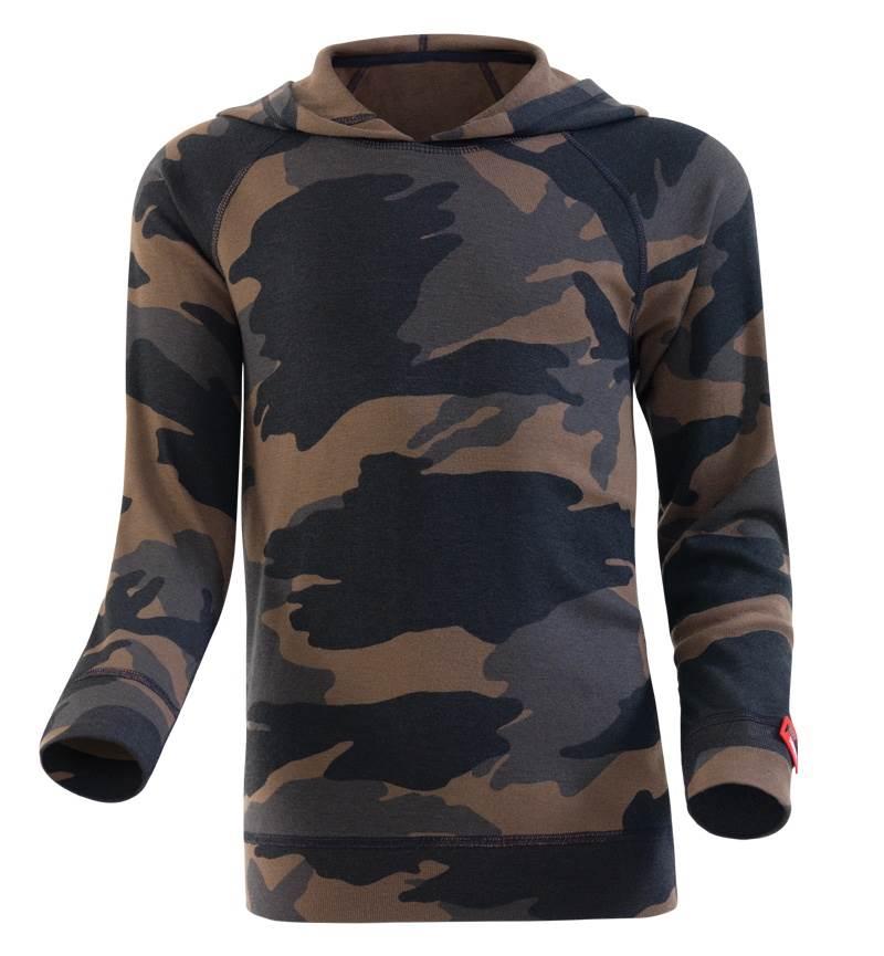 Çocuk Termal Sweatshirt 2. Seviye 5946 - Yeşil Kamuflaj