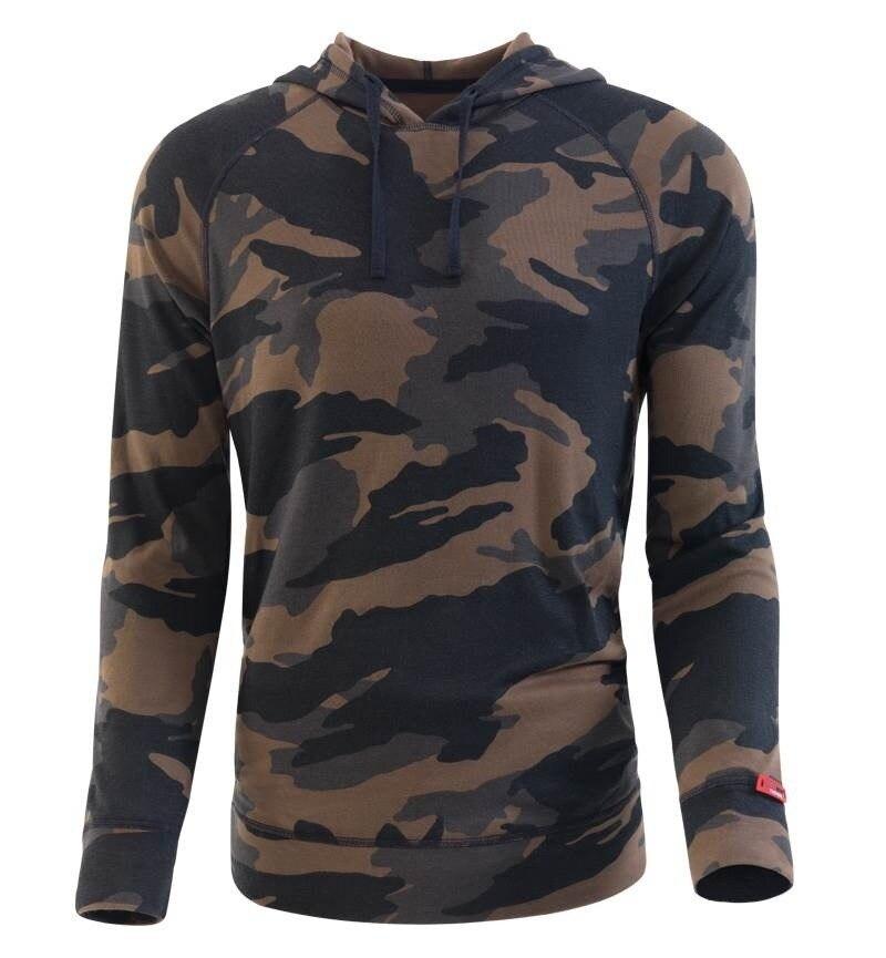 Erkek Termal Sweatshirt 2. Seviye 7579 - Yeşil Kamuflaj