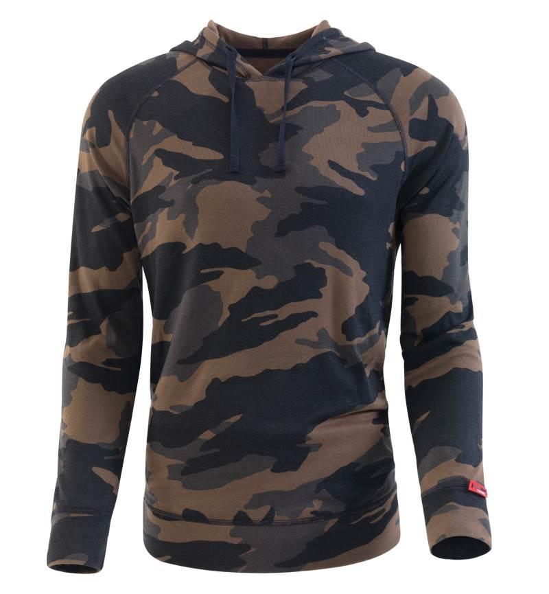 Blackspade Erkek Termal Sweatshirt 2. Seviye 7579 - Yeşil Kamuflaj